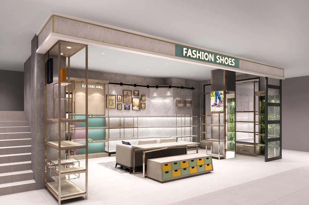 【鞋店展示柜定做厂家设计师】这样设计,想生意不好都难