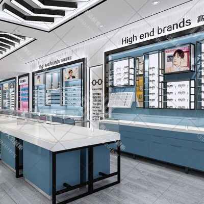 【珍视眼镜店】展柜设计方案,眼镜展柜效果图