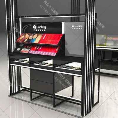 彩妆专柜设计彩妆展柜设计制作方案化妆品展柜定制设计图