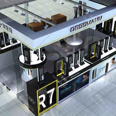 [智能锁展柜效果图]锁具展柜生产厂家,智能锁展柜设计方案