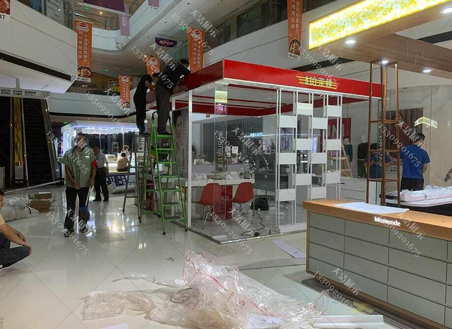 西安化妆品专柜制作丸美化妆品商场岛柜制作案例